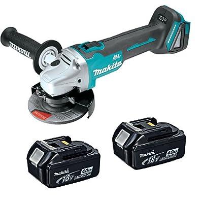 "Makita XAG03Z 18V 4-1/2"" Brushless Cut-Off/Angle Grinder w/ (2) BL1840 Batteries"