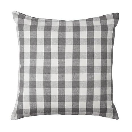 IKEA SMANATE - Funda de cojín, blanco, gris - 50x50 cm ...