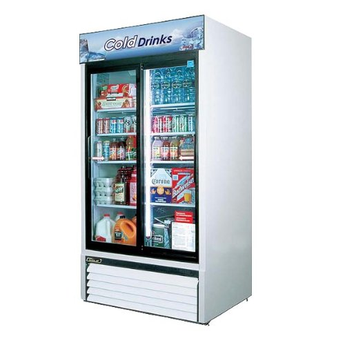 Turbo Air TGM-35R Glass Sliding Door Two Section Merchandiser Refrigerator