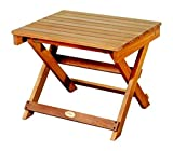 Foldable Tables and Chairs for Sale LuuNguyen Outdoor Hardwood Folding Side Table, Natural Wood Finish