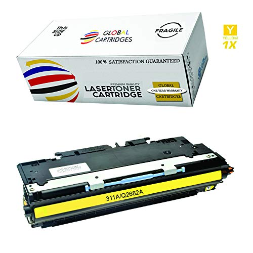 Global Cartridges Compatible Yellow Toner Cartridge for HP 308A / HP 309A / 311A / HP 3500 3700 Series/ Q2682A (Yellow)