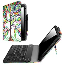"""Fintie Samsung Galaxy Tab S3 9.7 Keyboard Case, Premium PU Leather Stand Cover with S Pen Protective Holder Detachable Wireless Bluetooth Keyboard for Tab S3 9.7"""" 2017 (SM-T820/T825/T827), Love Tree"""