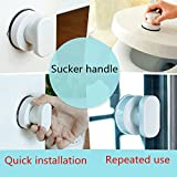 Sucker Handrail Bath Safety Handle Grab for Elderly & Children (White)