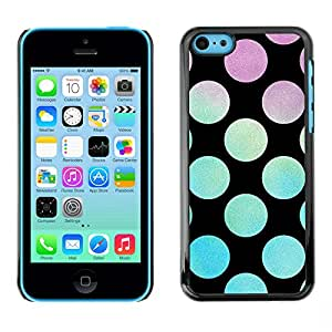 PC/Aluminum Funda Carcasa protectora para Apple Iphone 5C Disco Party Lounge Black / JUSTGO PHONE PROTECTOR
