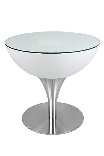 Amazonde Led Tisch Pl127 Beistelltisch Couchtisch 56 X 60 Cm