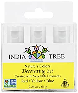 Amazon.com : India Tree Natural Decorating Colors Set, 3-Count 2.25 ...