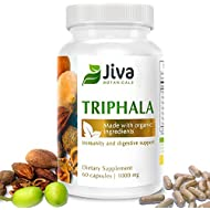 Triphala Capsules 1000mg – Extra Strength for Detoxification, Immunity, Digestive Support – Optimized Formula Amalaki (Amla), Bibhitaki and Haritaki Triphala Powder Plus Extract - by Jiva Botanical