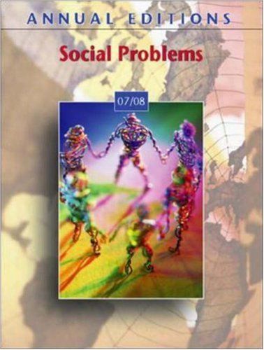 Annual Editions: Social Problems 07/08
