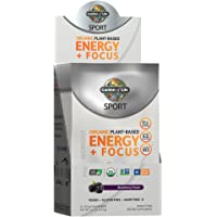 Garden of Life Sport Organic Plant-Based Energy + Focus Pre Workout Powder Packets, BlackBerry Flavor - Clean Preworkout…