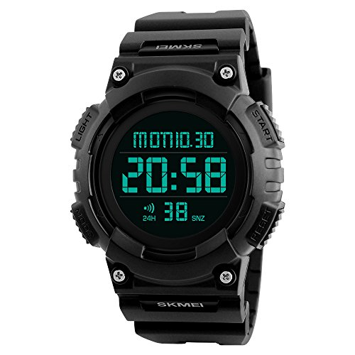 Digital Watch for Men Large Number Sports Watches with Waterproof Stopwatch Countdown Alarms EL Light