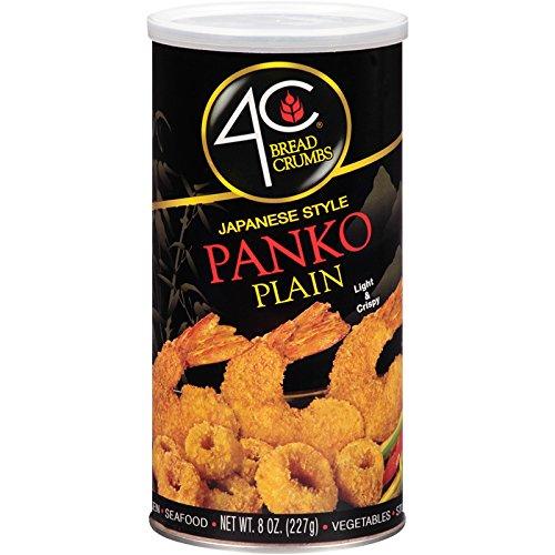 4C Panko Plain Bread Crumbs 8 ounces. (Pack of three)