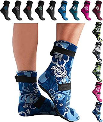 Unisex BPS High Cut /& Low Cut 3mm Neoprene Socks for Water Sports /& Excercise