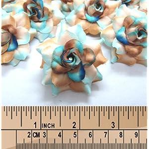 "(100) Silk Sea Beach Roses Flower Head - 1.75"" - Artificial Flowers Heads Fabric Floral Supplies Wholesale Lot for Wedding Flowers Accessories Make Bridal Hair Clips Headbands Dress 4"
