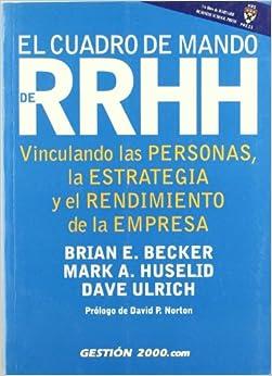 Book El Cuadro de Mando de RR Hh (Spanish Edition)