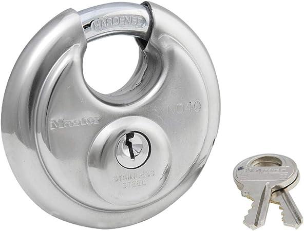 Amazon.com: Master Lock 40DPF - Candado de disco (acero ...
