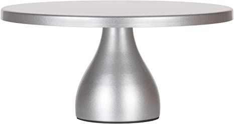 Amazon Com Amalfi Decor 12 Inch Cake Stand Dessert Cupcake Pastry Candy Display Plate For Wedding Event Birthday Party Round Modern Metal Pedestal Holder Silver Cake Stands