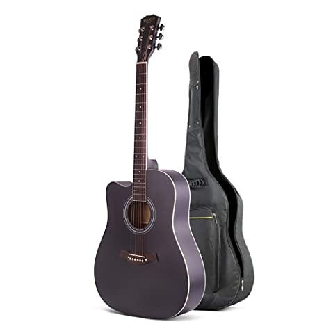 Boll-ATur 41 pulgadas Negro guitarra acústica - fácil de llevar ...