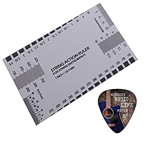 guitar string action ruler gauge tool guitar luthier accurate string measurement. Black Bedroom Furniture Sets. Home Design Ideas