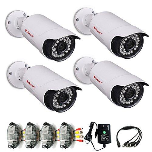 iSmart 4 Packs 960P AHD Bullet Outdoor Camera 3.6mm CCTV Security System C1066AH3x4 (Alarm Camera Ismart)