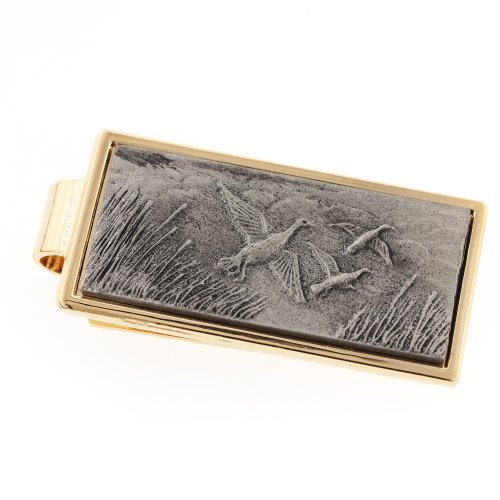 JJ Weston Flying Ducks Money Clip. Made in the USA. (Money Duck Clip)