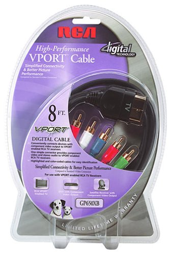 8' Component Video Cable (RCA VPort(TM)-to-Component Video Cable (8 Feet) (GP650XB))