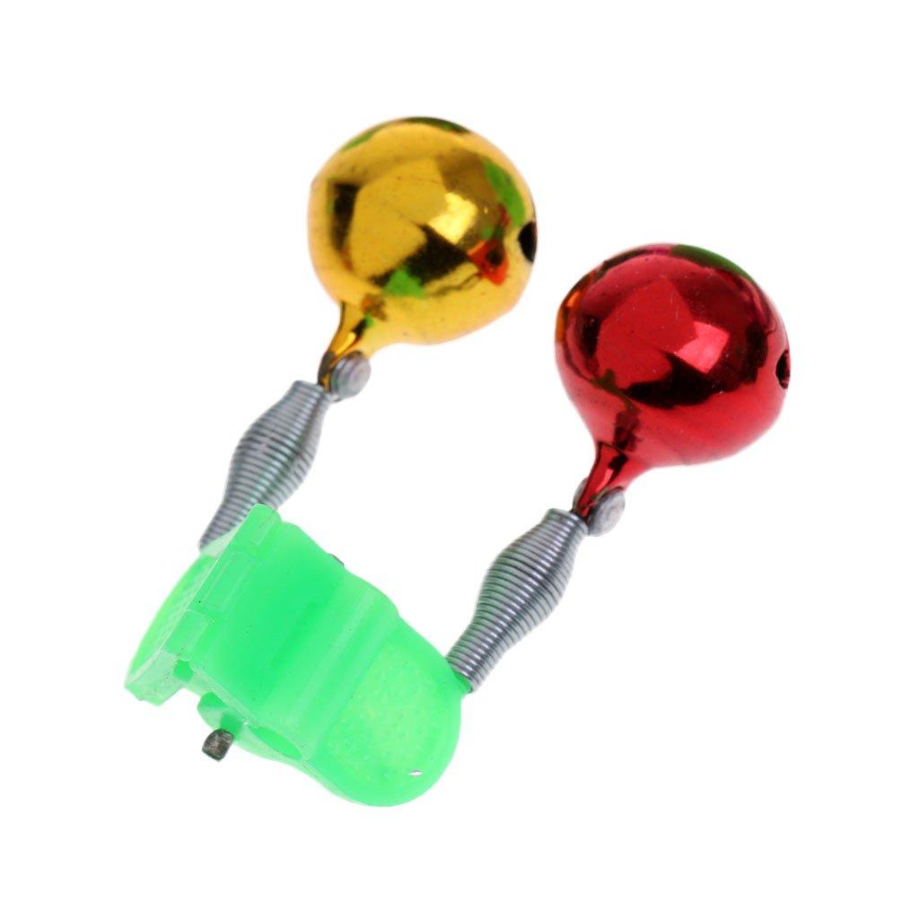 MagiDeal 10 St/ück Angeln LED Aalglocken-Set Aal-Gl/öckchen doppelt Bissanzeiger zum Angeln