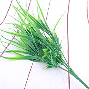 FYYDNZA 40Cm New Green Grass Artificial Plants For Plastic Flowers For Office Hotel/Wedding Home Dining Decoration 113