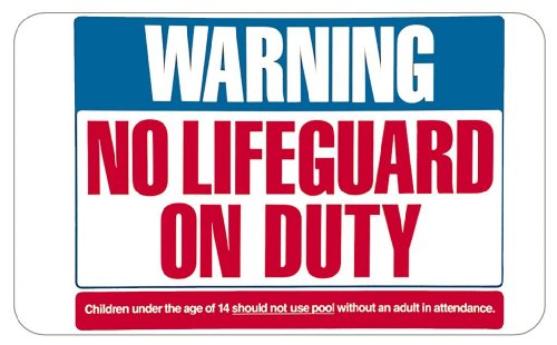 Lifeguard Duty Decorative Sign sticky