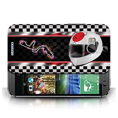 Etui / Coque pour HTC One/1 M8 / Japon/Suzuka conception / Collection de F1 Piste Drapeau