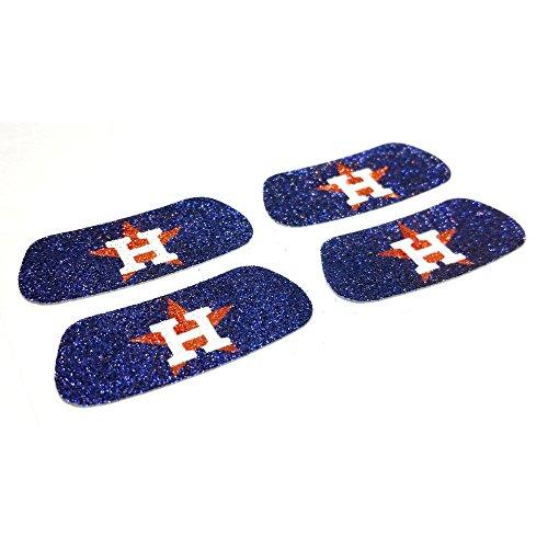 Houston Astros Mlb Baseball Sticker - EyeBlack Houston Astros MLB Glitter Strips, Perfect for Game Day and Tailgate (4 Pairs/8 Strips)
