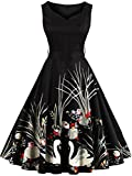 Womens Classy Church Dresses Short for Special Occasion,Black,L