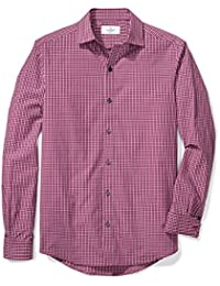 Men's Fitted Spread-Collar Sport Shirt