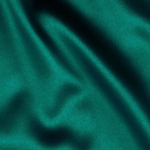 Telio Tahari Stretch Satin Teal Fabric, Deep Pine Green, Fabric By The Yard - Green Stretch Satin
