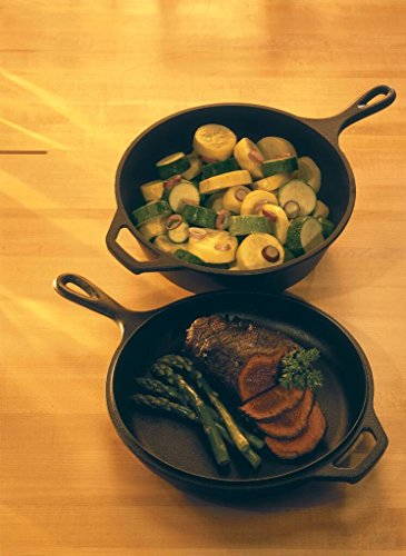 Lodge 3 Quart Cast Iron Combo Cast Iron Dutch Oven, and Skillet/Griddle