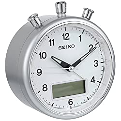 Seiko QHE114SLH Bedside Alarm Japanese Quartz Clock