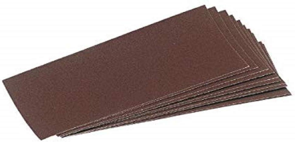 Draper 59463 Ten Assorted Aluminium Oxide Sanding Sheets  232 x 92 mm