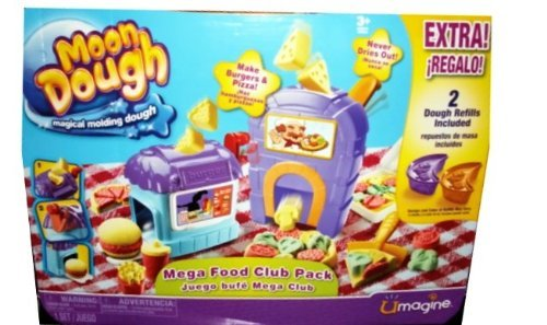 Refill Dough (Moon Dough - Mega Food Club Pack - Extra! Includes 2 Dough Refills - Magical Molding Dough)