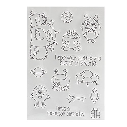 (ForHe Perfectly Clear Stamp, Monsters - for Card Making, Decoration and Scrapbooking for Christmas Thanksgiving)