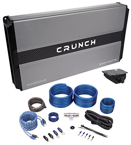 Crunch PD1500.1 1500 Watt Mono Car Stereo Amplifier Class AB Pro Power+Amp Kit