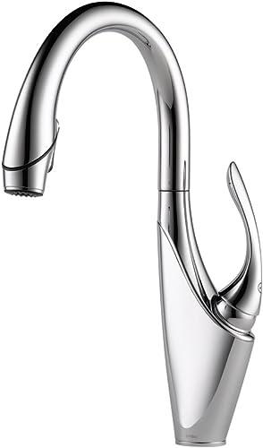 Brizo 63055LF-PC Vuelo Pullout Spray Single Handle Kitchen Faucet, Chrome