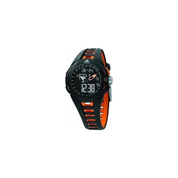 adidas adp1435 Gents Negro, Correa de goma digital reloj: Amazon.es: Relojes