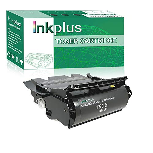InkPlus T616 Series Toner Cartridge Compatible for Lexmark Optra T616, T616n Printers,(15,000 Page-Yield, Black)