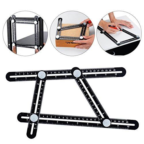 Multi Angle Measuring Ruler - Premium Aluminum Alloy Template Tool for Carpenter,Engineers,Craftsmen,Builders,Handymen (Eye Short Bolt)