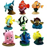 Set of 9 Pcs Disney Pixar Store Finding Nemo PVC Playset Figure Cake Toppers by Finding Nemo