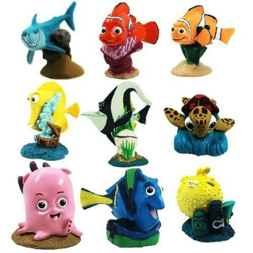 Set of 9 Pcs Disney Pixar Store Finding Nemo PVC Playset Figure Cake Toppers by Finding Nemo by Finding Nemo
