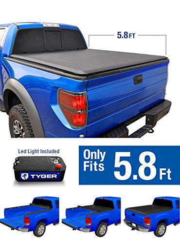 Tyger Auto TG-BC1D9018 TOPRO Roll Up Truck Bed Tonneau Cover 2009-2018 Dodge Ram 1500 without Ram Box| Fleetside 5.8' Bed (Bed 1500 Fleetside)
