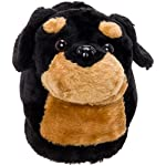 Silver Lilly Rottweiler Slippers - Plush Dog Slippers w/Platform 7