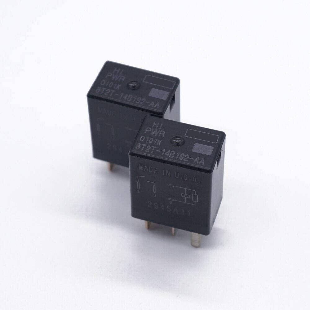 Set of 2 8T2T-14B192-AA 4Pins For FoMoCo Automotive Relay FUSION F150