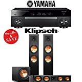 Yamaha AVENTAGE RX-A1070BL 7.2-Ch 4K Network AV Receiver + Klipsch RP-280F + Klipsch RP-450C + Klipsch R-115SW - 3.1-Ch Home Theater Package