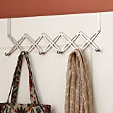 ECOLIFE Stainless Steel Expandable Coat Hook Rack-Easy Over Door Installation (6 Hook)